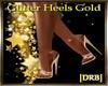 |DRB| Glitter Heels Gold
