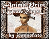 Animal Print Brow Rings
