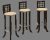 Bar Stools Wood / Suede