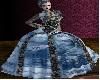 Roseline Denim Gown
