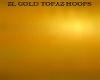 ZL GOLD TOPAZ HOOPS