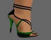 Green-Black shoes