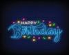 Neon Happy Birthday Sign