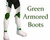 Green Armored Boots