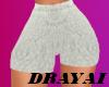 White Teddy Shorts
