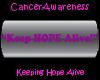CA Keep Hope Alive blkbg