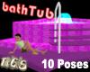 Bath Tube pink/purple