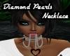 Diamond Pearls Necklace