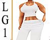 LG1 ALL White Pansuit