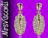 Rhinestone Gold Earrings