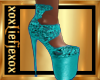 [L] TEAL Laced heels