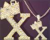 Gold Chain X Letter Men