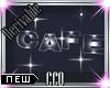 [CCQ]3D Cafe Sign