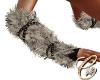 Fur Gloves Natural nails