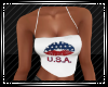 U.S.A. Lips Strapless Wh