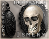 [Is] Skull Earrings Drv