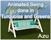 Animated Turquoise Swing