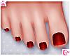 💗 Pedicure Red