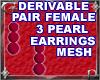 03 Pearl Earrings Mesh