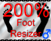 *M* Foot Resizer 200%