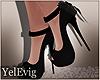 [Y] Luisa black heels