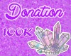 DONATION 100k