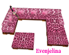 pink leopard couch