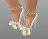 SWS White & Gold Heels
