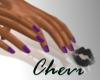 Short Purple Nails
