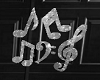 music notes wall