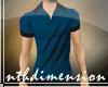 X11  Slash Shirt LBlue