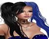 black  blue harley hair