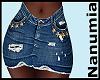 jeans stars skirt