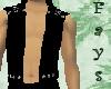 Black Open Front Vest