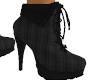 Black Plaid Boots