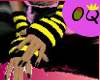 [OQ] Emo gloves~blk/yllw