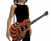 Orange and Black Guitar