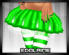E~ X-mas Skirt Green