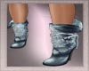 Light Blue Chained boots