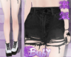 Black Goth Denim Shorts2