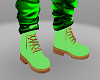 Neon Green Timberlands