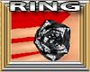 Black Diamond Rose Ring