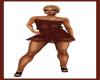 JUK RedBlack Shade Dress