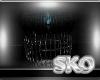 *SK*Teal & Black Stool