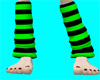 green and black socks