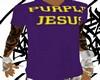 [SF] Purple Jesus V Neck