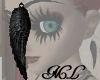 Black Angel Wing earring