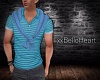 Polo with Sweater -Blue