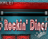 ♔K RD Neon Diner Sign