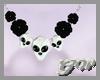 Opal Onyx Skull Necklace
